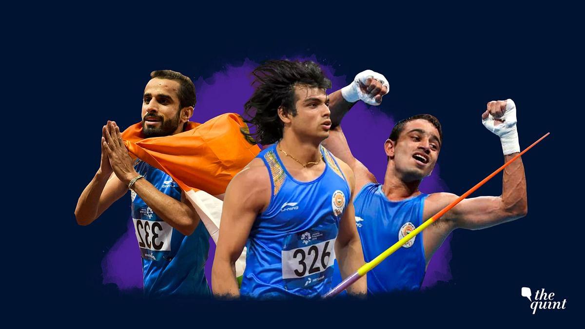 Manjit Singh, Neeraj Chopra and Amit Panghal.