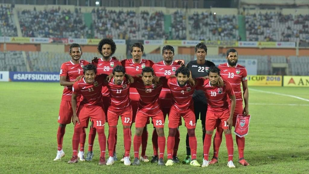 Maldives lifted the winners' trophy for the second time after winning the title in 2008 edition which it co-hosted.