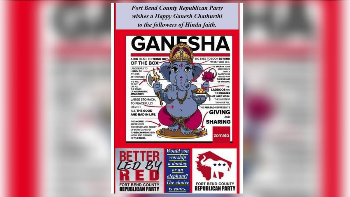 Texas Republicans Apologise to Hindu-Americans For Ganesha Ad