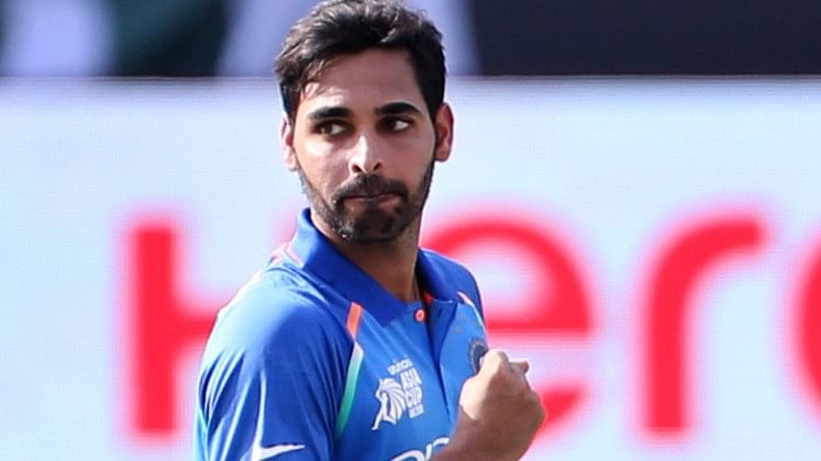 Bhuvneshwar Kumar started the proceedings for India dismissing the two Pakistani openers in his opening spell.