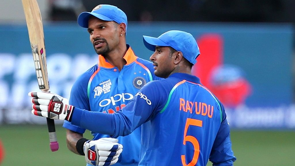 Ambati Rayudu scored a well-made 60, as he stitched a 116-run stand with Shikhar Dhawan for the second wicket.