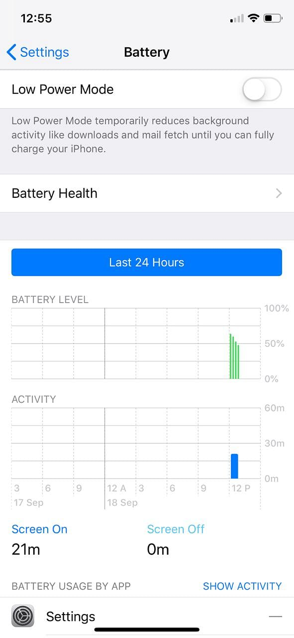 An in-depth look at the battery consumption on iOS 12.