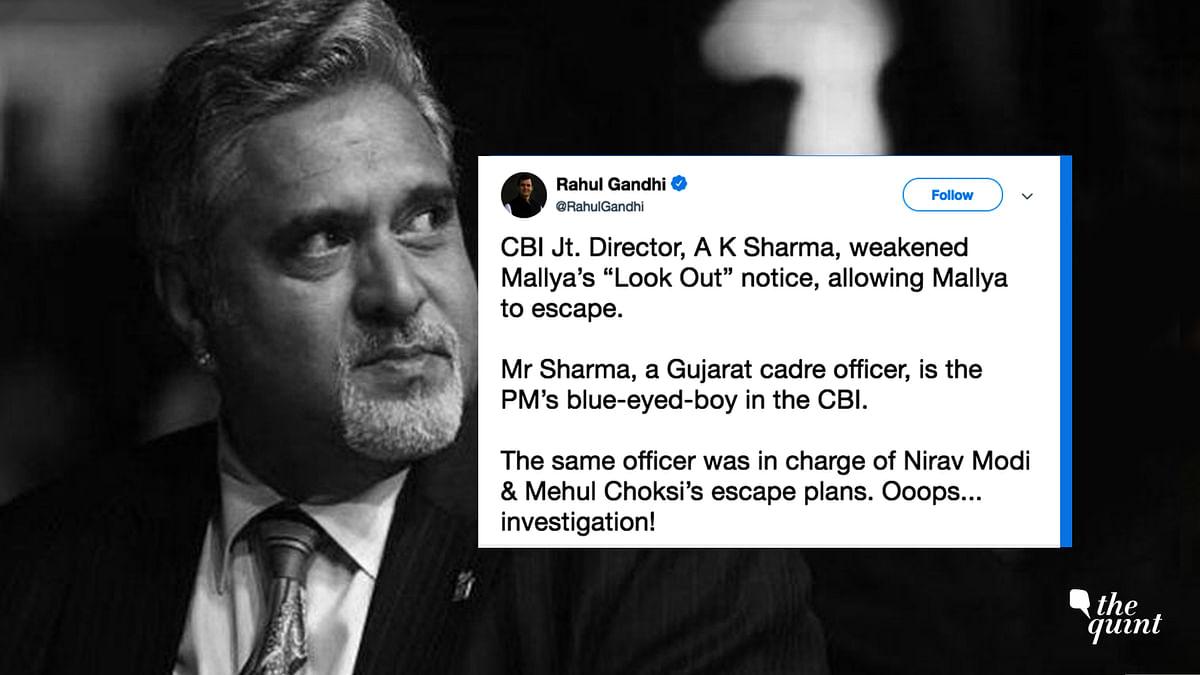 Mallya's Escape: Rahul Gandhi Blames CBI Officer, Agency Responds
