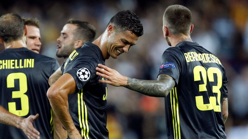 Cristiano Ronaldo had to buy iMacs for the entire team after he was given a red card in his first Champions League match for the Italian club.