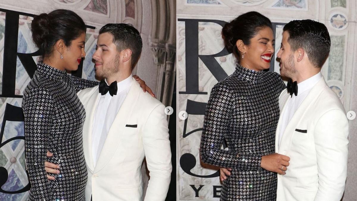 Priyanka Chopra with Nick Jonas.