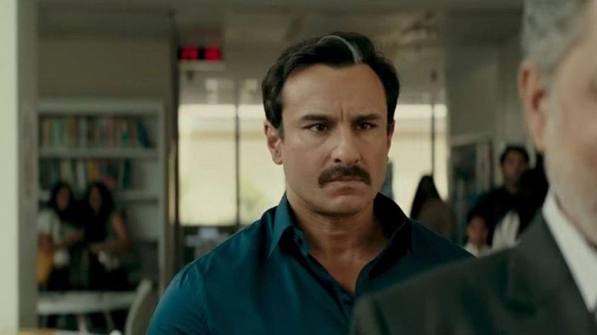 Saif Ali Khan in the trailer of <i>Baazaar</i>.&nbsp;