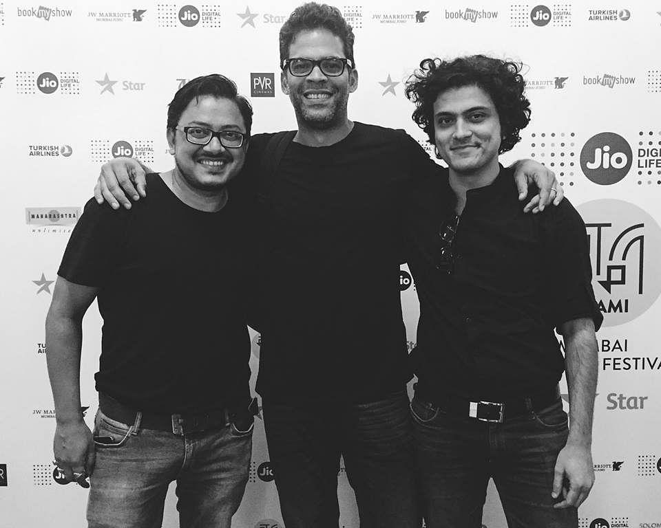 Hardik Mehta with Amit Joshi (left) and Vikramaditya Motwane (centre).