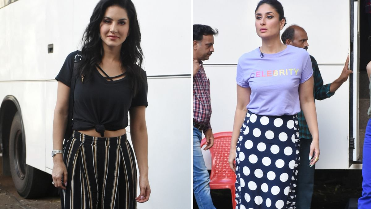 Kareena Kapoor and Sunny Leone were spotted at Mehboob Studios on 24 September, Monday.