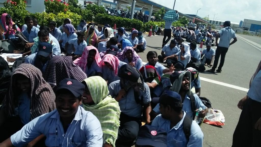 The Oragadam industrial belt near Chennai, which has units of the some of the world's leading automobile manufacturers, is now witnessing strikes by over 3,700 workers, belonging to three different companies.