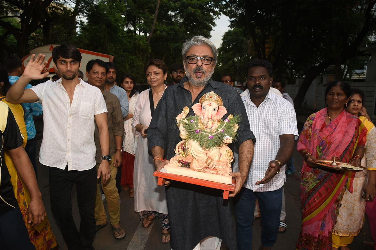 Sanjay Leela Bhansali during visarjan.