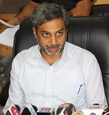 Srinagar: Jammu and Kashmir Chief Electoral Officer (CEO) Shaleen Kabra addresses a press conference regarding the elections to urban local bodies which will be held in the state in four phases beginning on October 8; in Srinagar on Sept 15, 2018. Kabra told the media on Saturday that the municipal polls will be conducted in four phases in the state on October 8, 10, 13 and 16. With this announcement, all speculations about the deferment of these polls have been laid to rest. (Photo: IANS)
