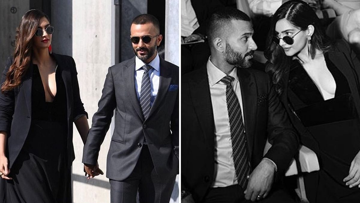 Actor Sonam Kapoor Ahuja and her husband and businessman Anand S. Ahuja flew to Milan to attend a fashion show on an invitation by veteran designer Giorgio Armani.