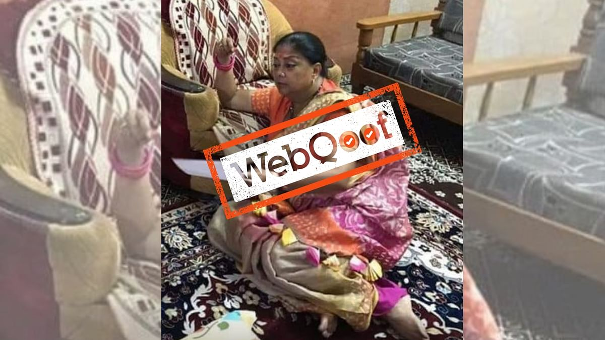 A photo of Rajasthan Chief Minister Vasundhara Raje is going viral for all the wrong reasons.