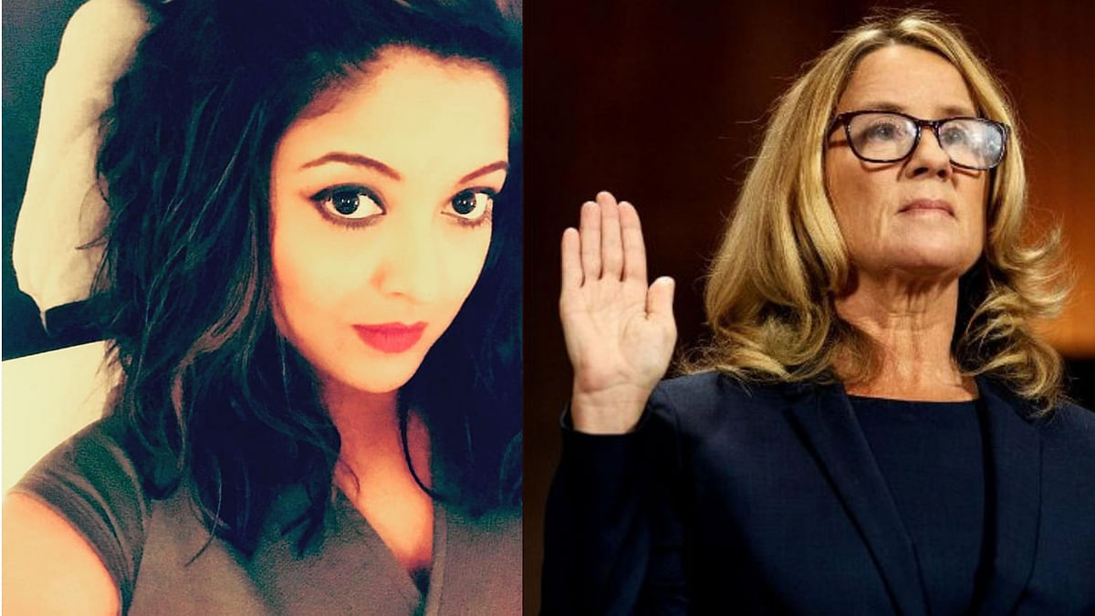 Tanushree Dutta and Christine Blasey Ford.