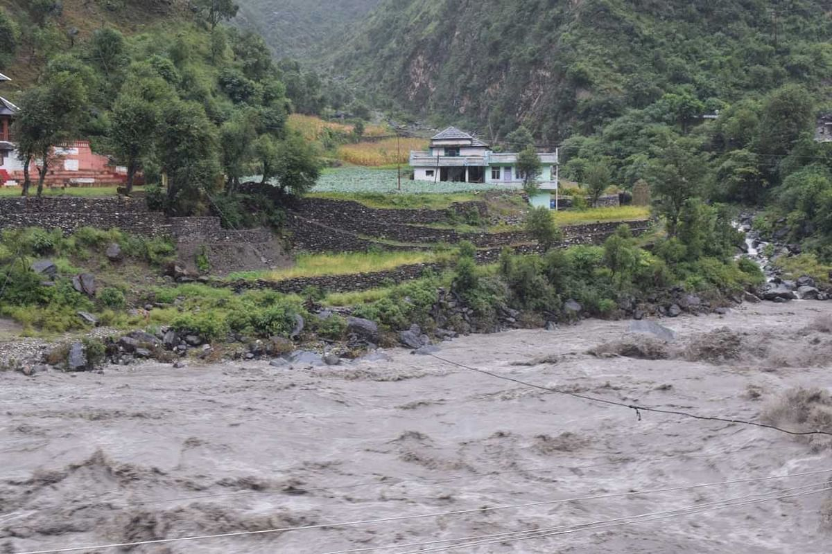 River Beas was overflowing.