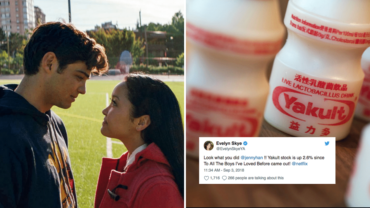 Looks like Yakult has benefitted from Peter Kavinsky and Lara-Jean's love story.