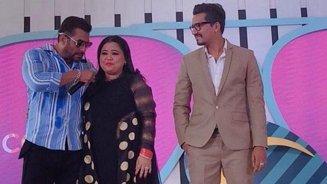 Salman Khan, Bharti Singh and Harsh Limbachiyaa.