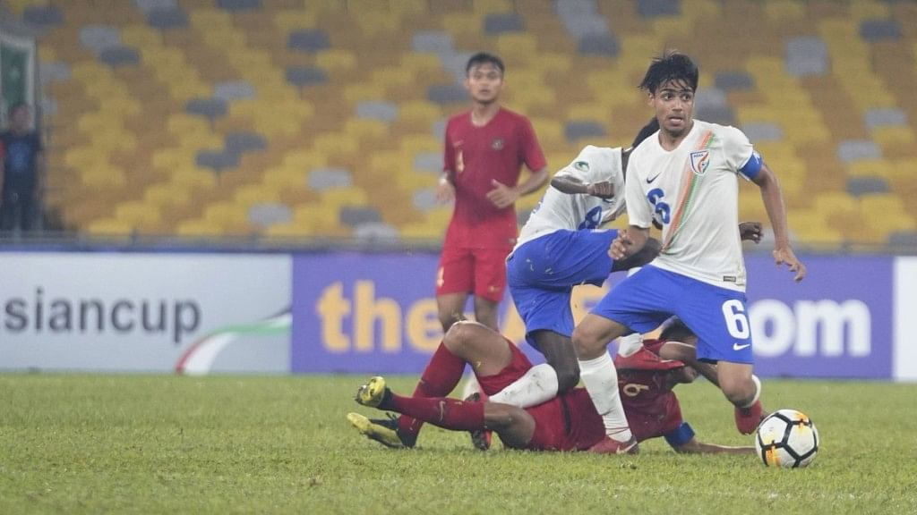 Indonesia, despite dominating possession, were not able to create a clear goal scoring chance, often flustered by the Indian defence.