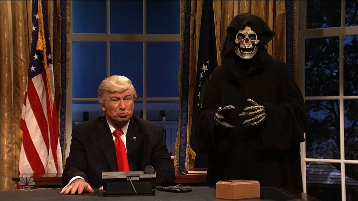 A still from <i>Saturday Night Live</i>.