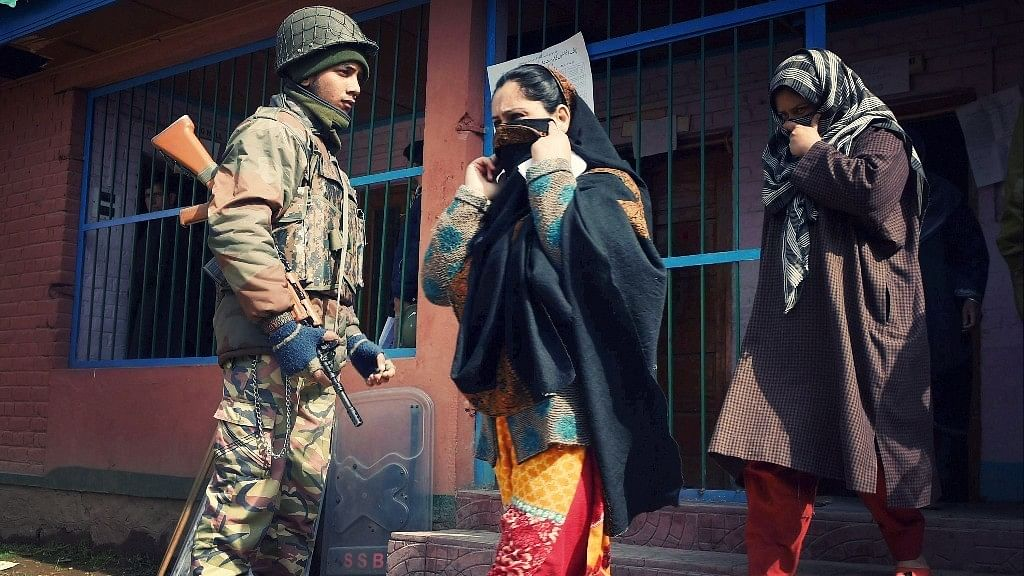 File image of a polling station in Srinagar Parliamentary constituency in Jammu and Kashmir.