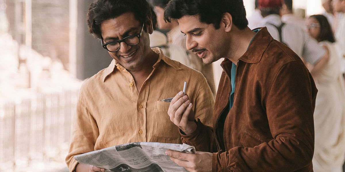 Nawazuddin Siddiqui and Tahir Raj Bhasin in <i>Manto</i>.