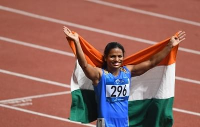 Dutee Chand.  (Xinhua/Pan Yulong/IANS)