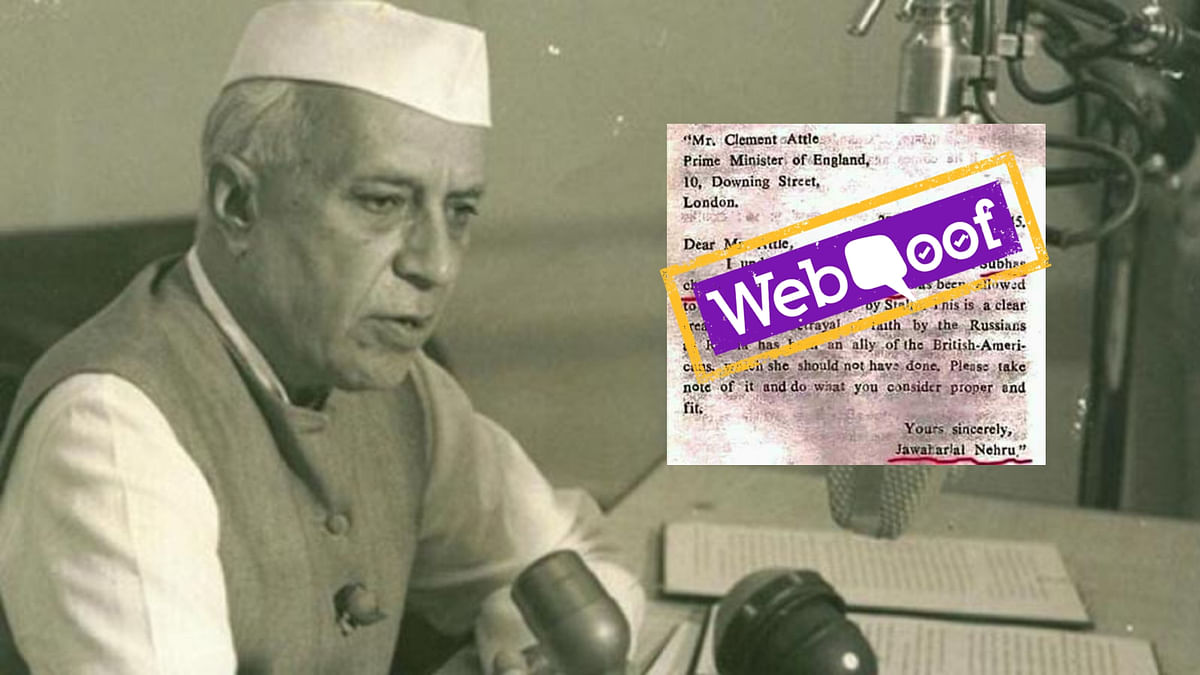 No, Nehru Didn't Write to Attlee Disclosing Netaji's Location