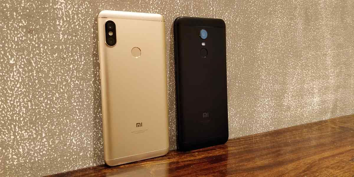 The Redmi Note 5 Pro (left) comes with a dual camera setup.