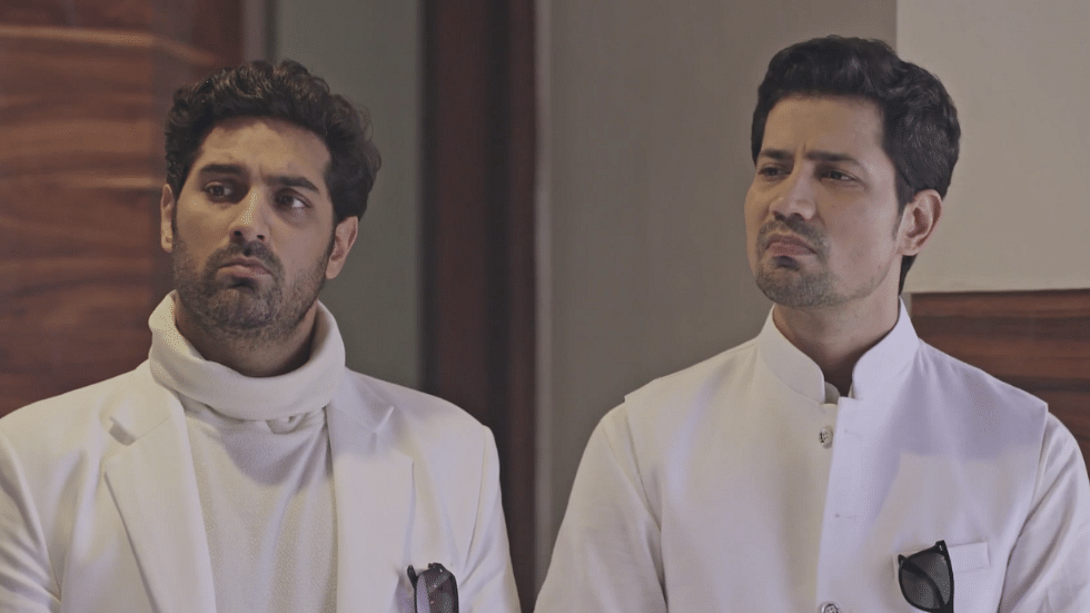 Kunaal Roy Kapur and Sumeet Vyas in one of the stills from the series.