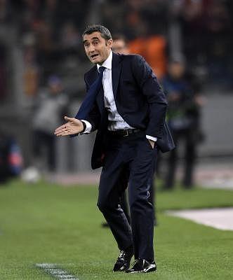 Ernesto Valverde. (File Photo: Xinhua/Alberto Lingria/IANS)