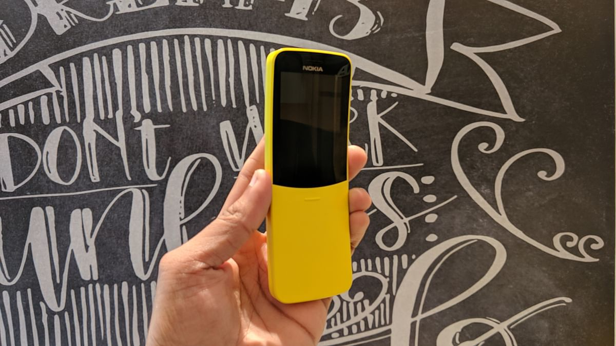 Nokia 8110 4G is a smart feature phone.