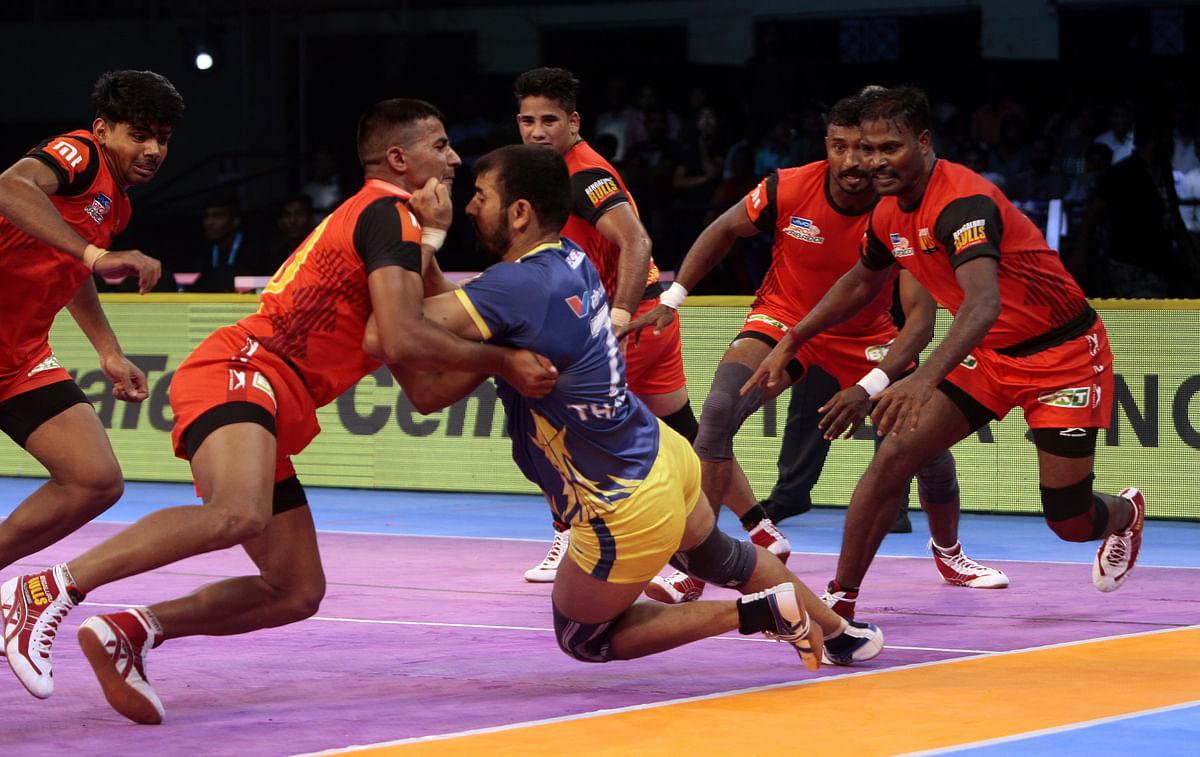 Pro Kabaddi: Bengaluru Bulls Hand Tamil Thalaivas Third Defeat