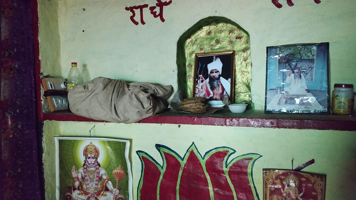 A photo of Roop Singh inside his house.