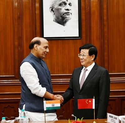 New Delhi: Union Home Minister Rajnath Singh meets China