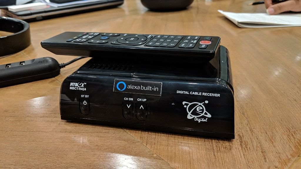 The box is currently used by providers like Airtel and Dish TV.
