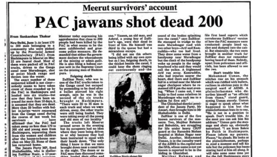 A newspaper clipping of a story published in The Telegraph on 1 June 1987 edition.