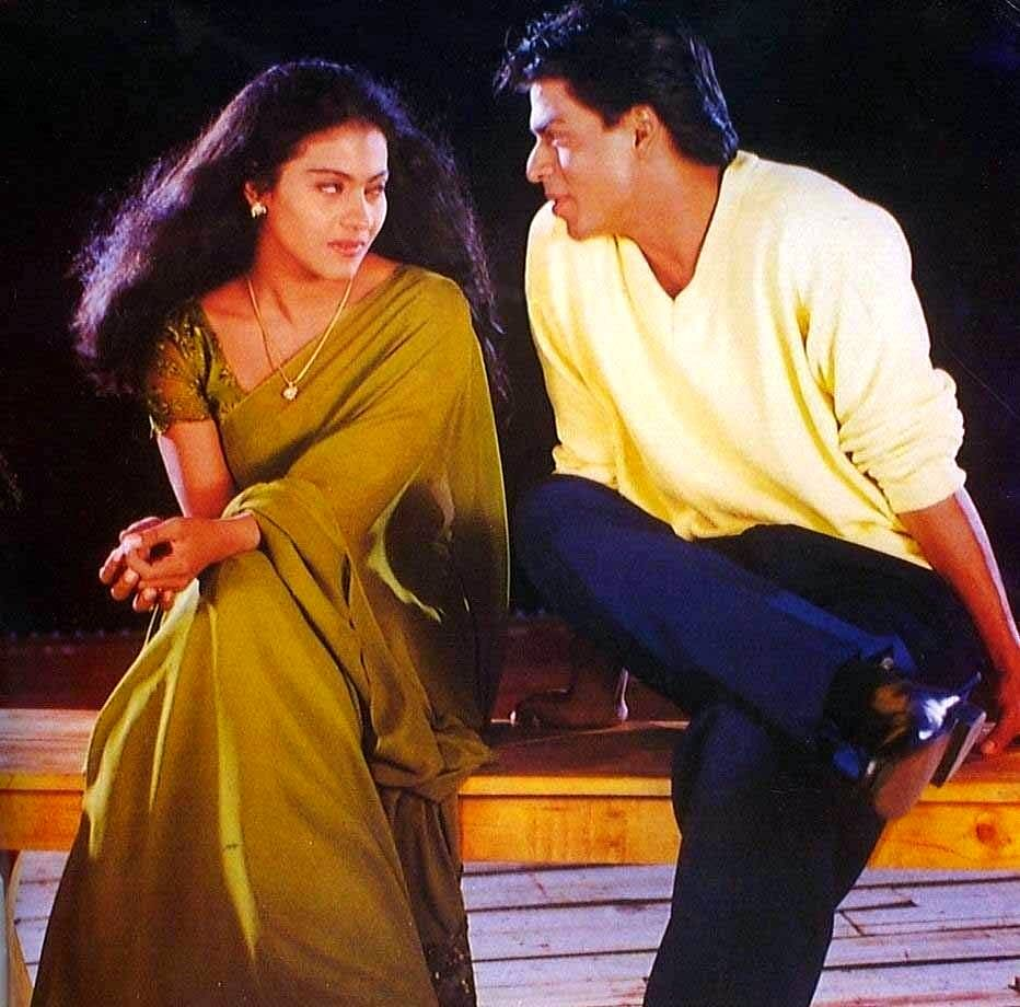 Kajol and SRK in a still from the film.