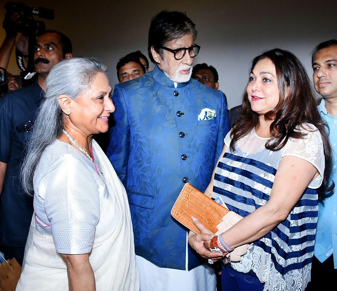 The Bachchans catch up with Tina Ambani.