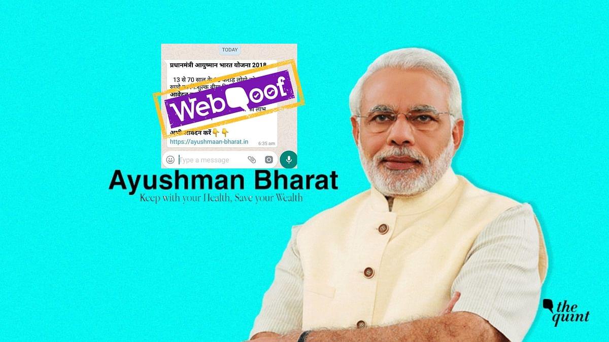 Fake WhatsApp Msg Asks Users to Apply for Ayushman Bharat Scheme