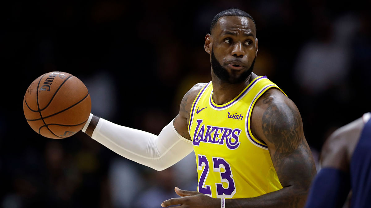 LeBron James simply scoffs at the notion he's thinking about anything but his day job as he begins the next chapter in one of the greatest careers in NBA history.