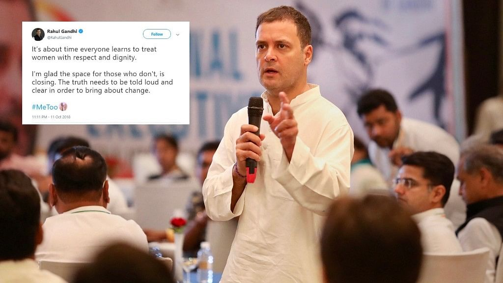 About Time Women Are Treated With Dignity: Rahul Gandhi on #MeToo