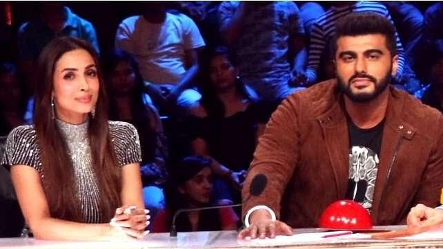 Malaika and Arjun on the judges panel for 'India's Got Talent'.