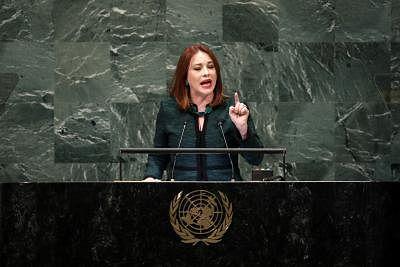 United Nations General Assembly President Maria Fernanda Espinosa Garces. (File Photo; Xinhua/Li Muzi/IANS)