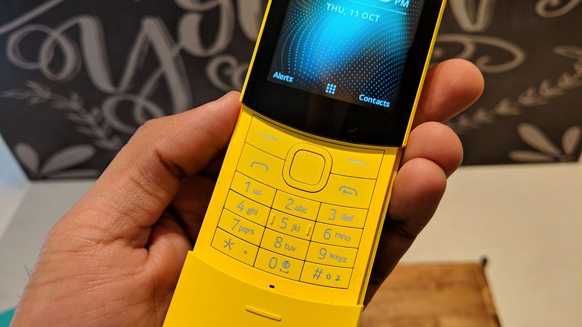 Slider keypad on the Nokia 8110 gets a good build quality.