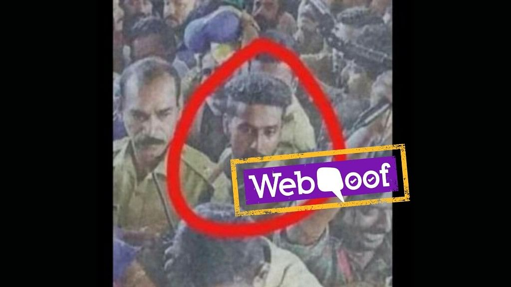 The social media posts claim that the man impersonated a policeman and assaulted devotees at the Sabarimala temple during the recent protests.