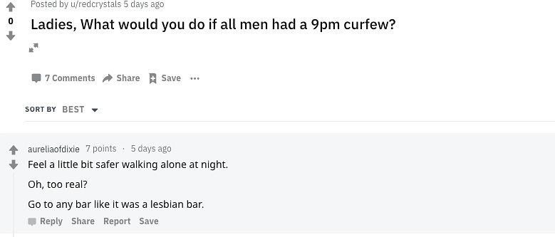 The question was posed to reddit users as well.