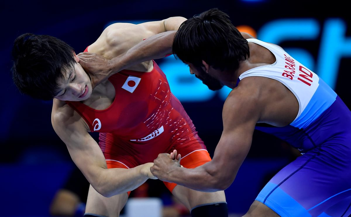 The Japanese kept attacking Bajrang Punia's left leg, a strategy which the Indian struggled to counter.