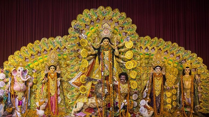 The grand occasion of Durga Puja marks the journey of the goddess to her maternal home.