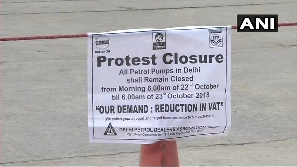 Over 400 Delhi Petrol Pumps to Remain Shut to Protest VAT on Fuel