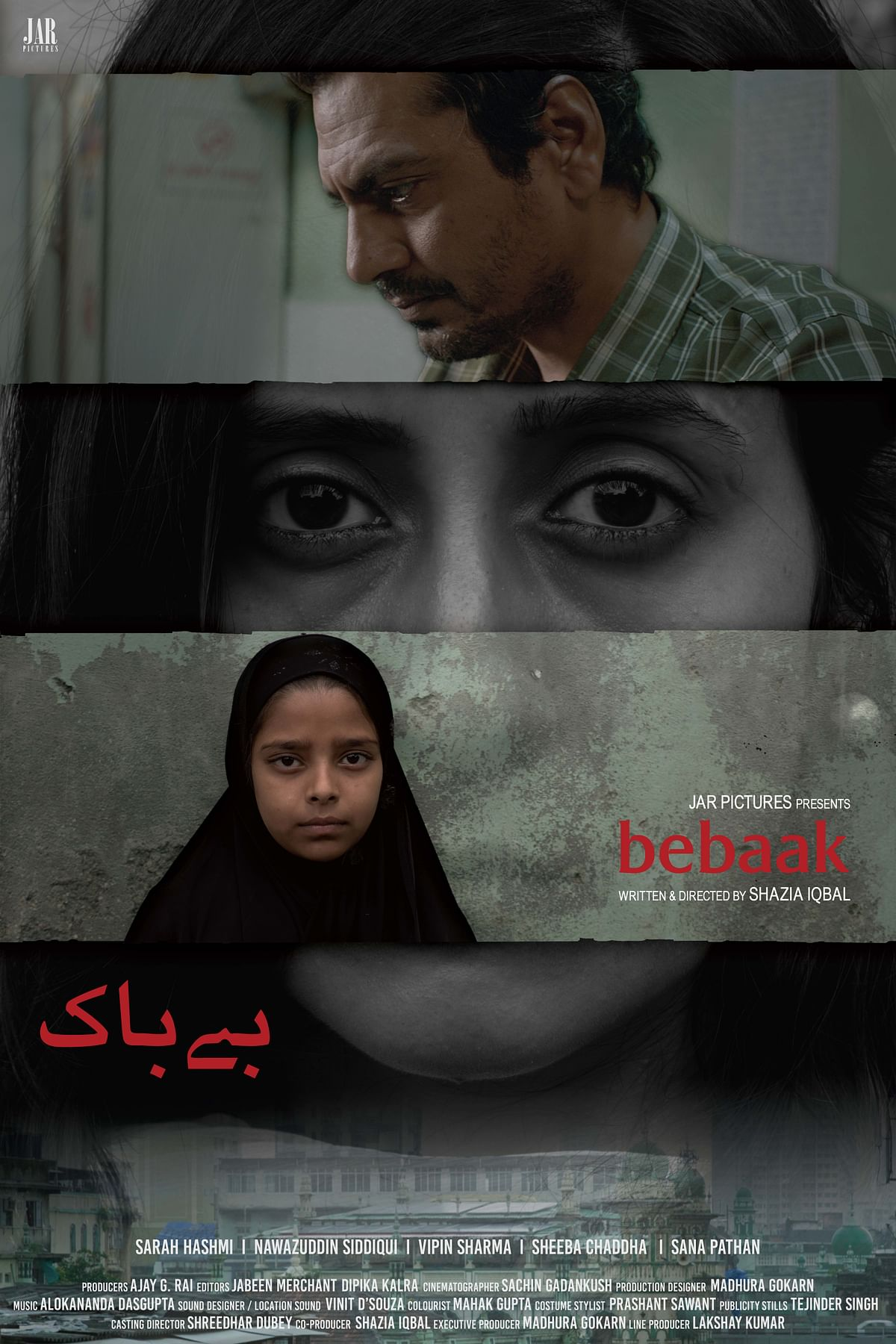 A poster of <i>Bebaak </i>without Anurag Kashyap's mention.